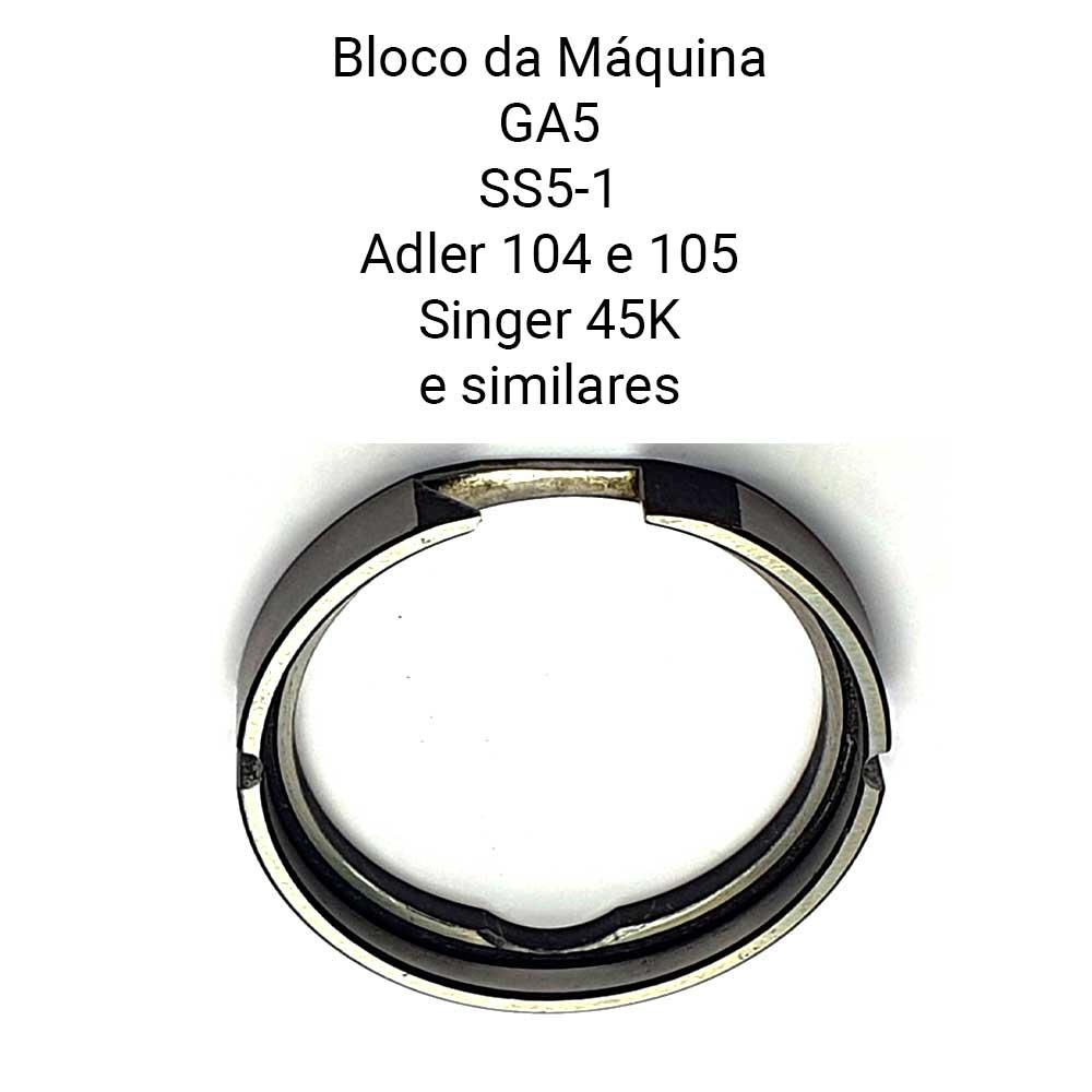 Bloco Da Lançadeira Para Máquina De Selaria Adler 104 105 Singer 45 K  - Pavvia Agulhas e Peças