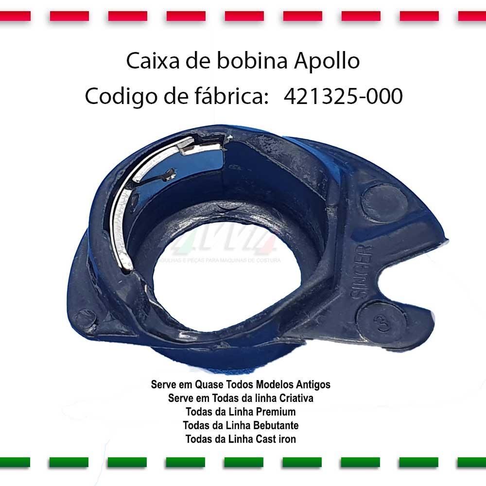 Caixa de Bobina Apollo Singer 421325-000  - Pavvia Agulhas e Peças