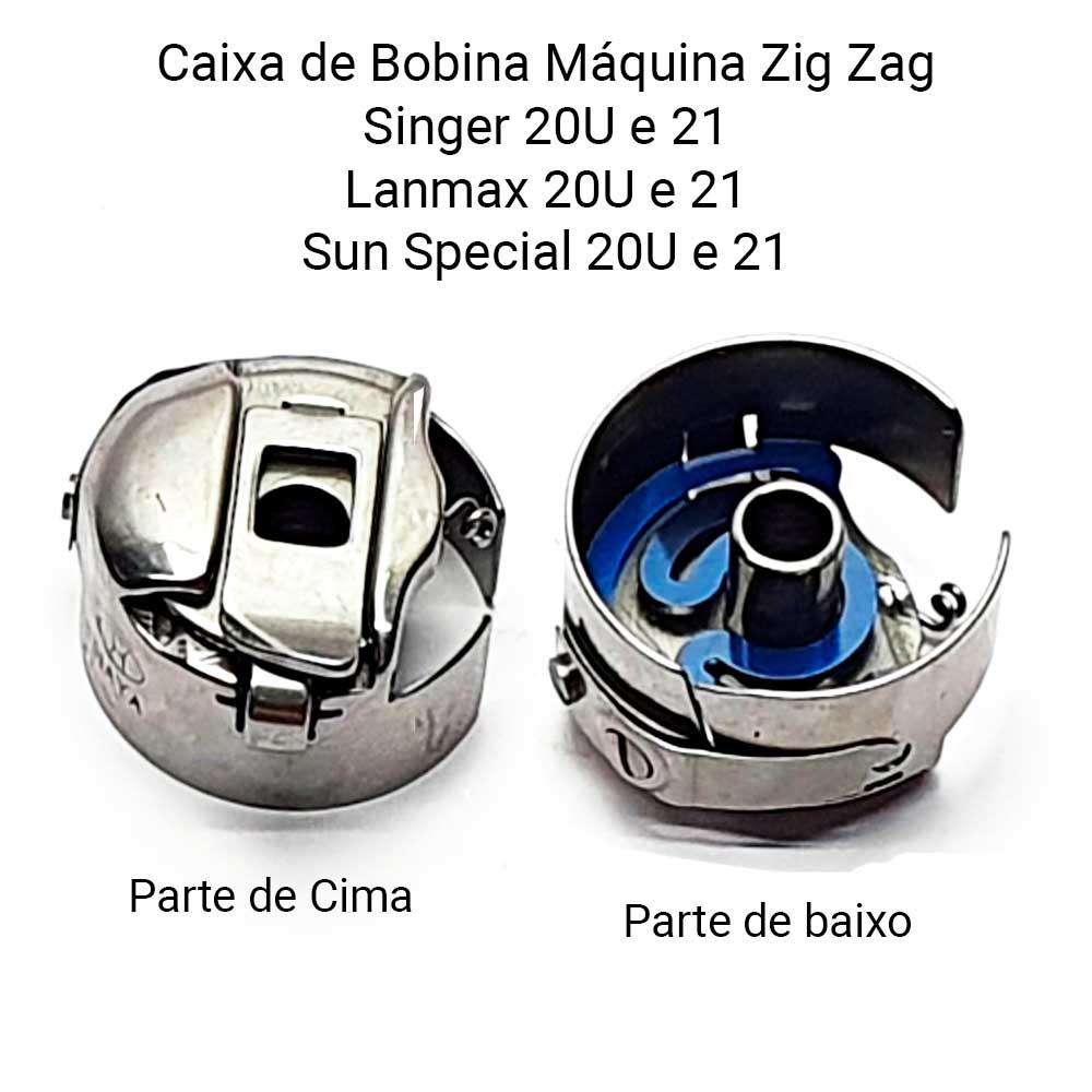 Caixa De Bobina Para Máquina De Costura 20U Zig Zag BD DBZ1 NBL  - Pavvia Agulhas e Peças