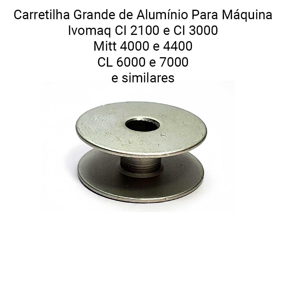 Carretilha Bobina De Alumínio Para Máquina de Costura Lançadeira Grande Ivomaq CI 2100 Ou CI 3000  - Pavvia Agulhas e Peças