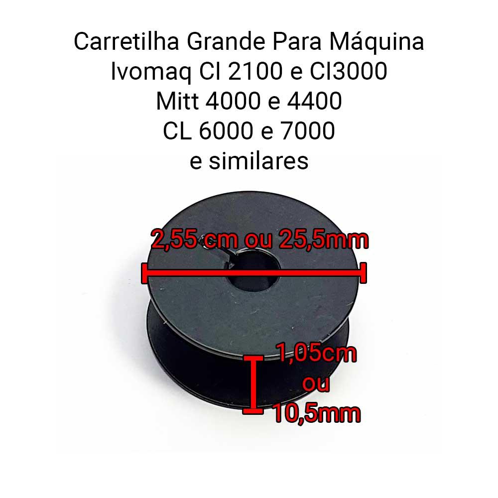 Carretilha Bobina De Ferro Para Máquina de Costura Lançadeira Grande Ivomaq CI 2100 Ou CI 3000  - Pavvia Agulhas e Peças