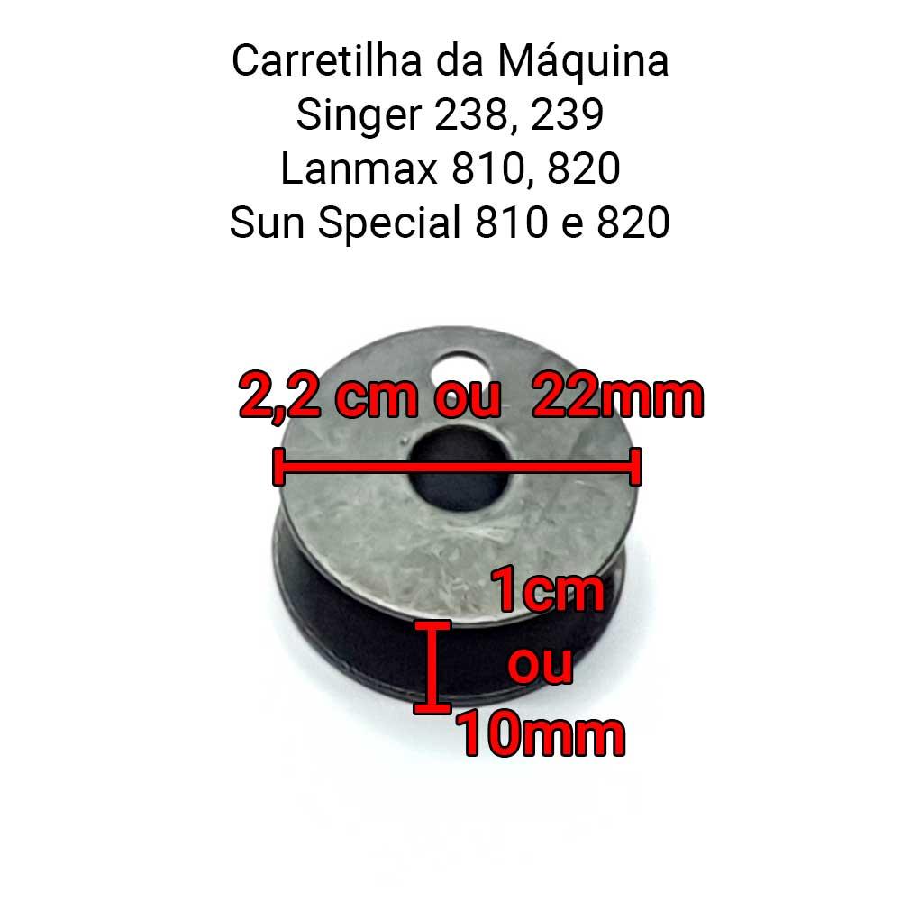 Carretilha Bobina Para Máquina De Costura SINGER 238, 239, PB 810 LM 810 820 203470  - Pavvia Agulhas e Peças