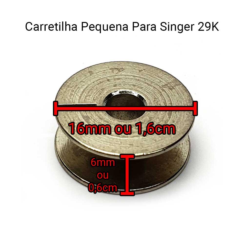Carretilha Bobina Para Máquina De Remendo Singer 29 K Pequena 37765  - Pavvia Agulhas e Peças