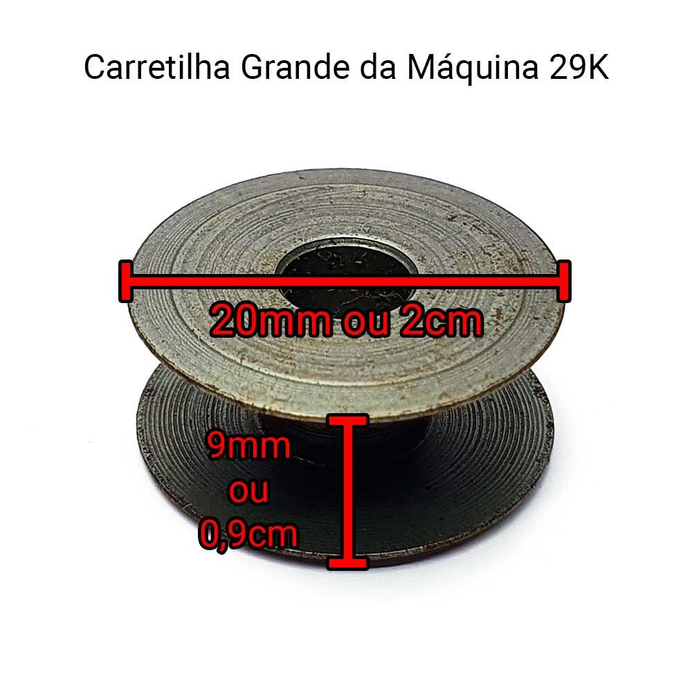 Carretilha Grande Para Máquina De Remendo Singer 29 K De Alumínio 82222A SI-82552A  - Pavvia Agulhas e Peças