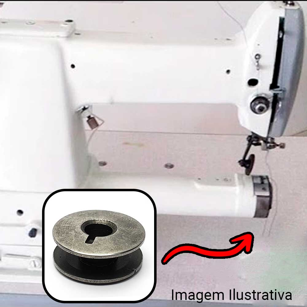 Carretilha Para Máquina De Costura Esquerda  - Pavvia Agulhas e Peças
