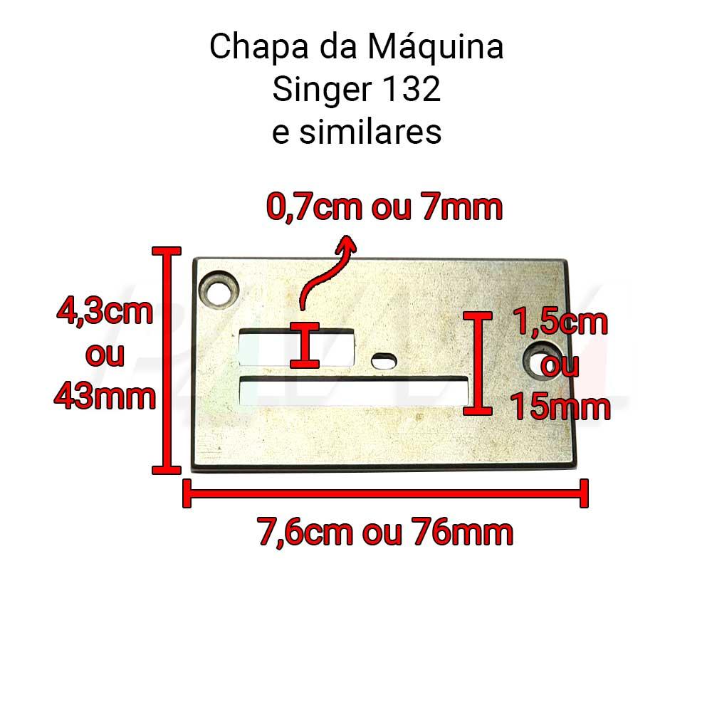 Chapa 2 Carreiras Para Máquina Singer 132 K6 K10 K12  - Pavvia Agulhas e Peças
