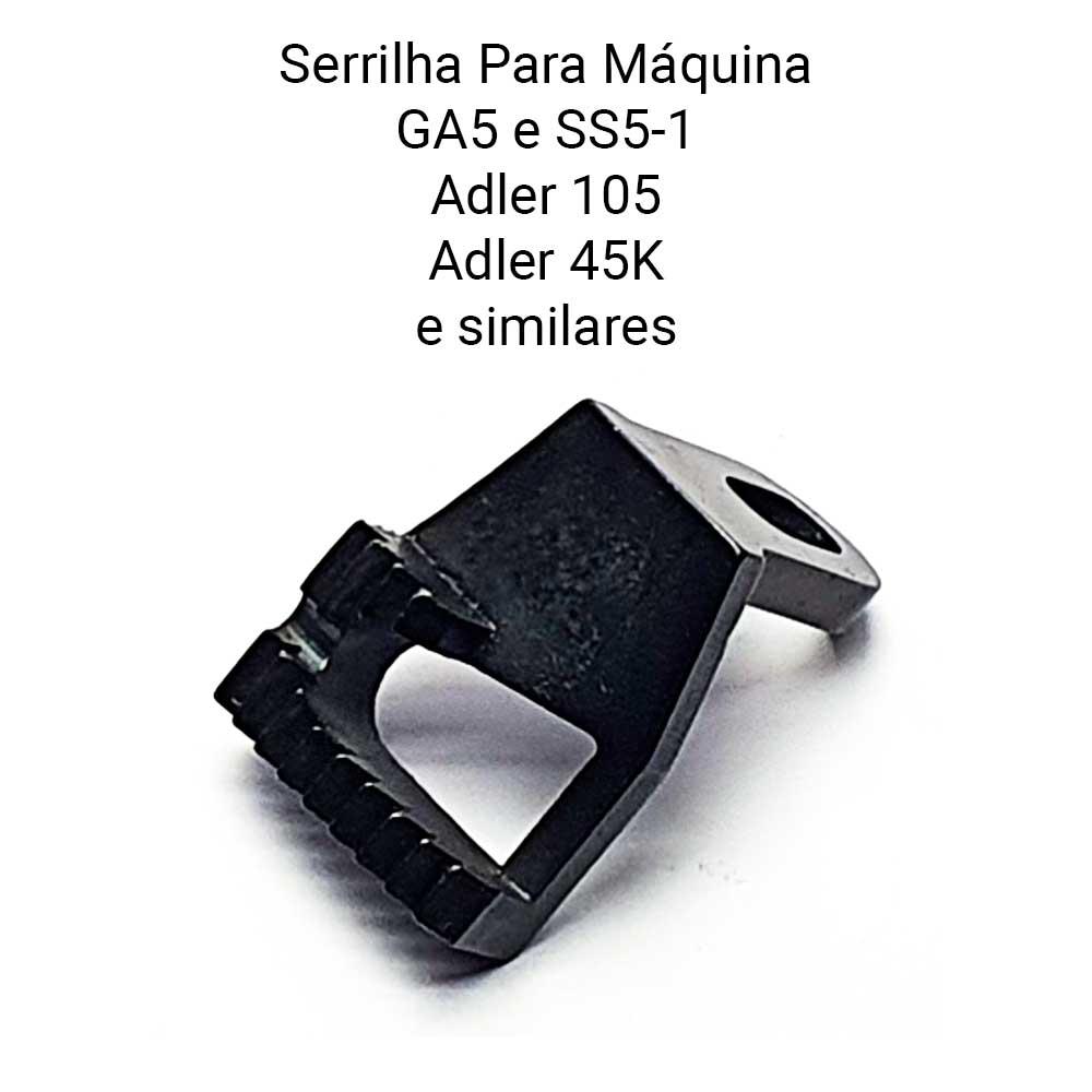 Chapa E Serrilha Para Máquina De Costura De Selaria GA5 GA 5 SS5 105 45 K  - Pavvia Agulhas e Peças