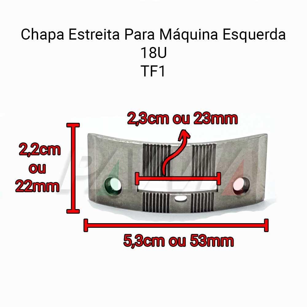Chapa Estreita De Agulha Para Máquina De Costura Esquerda Singer 18U   - Pavvia Agulhas e Peças