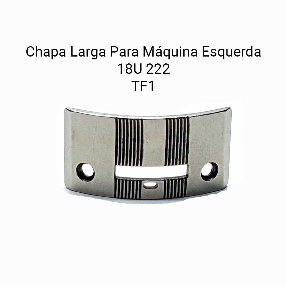 Chapa Larga De Agulha Para Máquina De Costura Esquerda Singer 18U 222  - Pavvia Agulhas e Peças