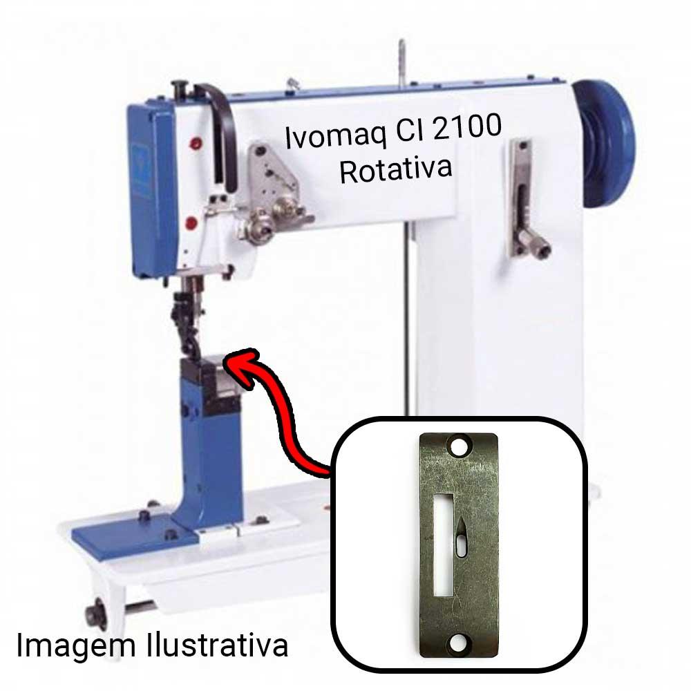 Chapa Para Máquina De Costura 1 Agulha Ivomaq Rotativa CI 2100 E CI 3000  - Pavvia Agulhas e Peças