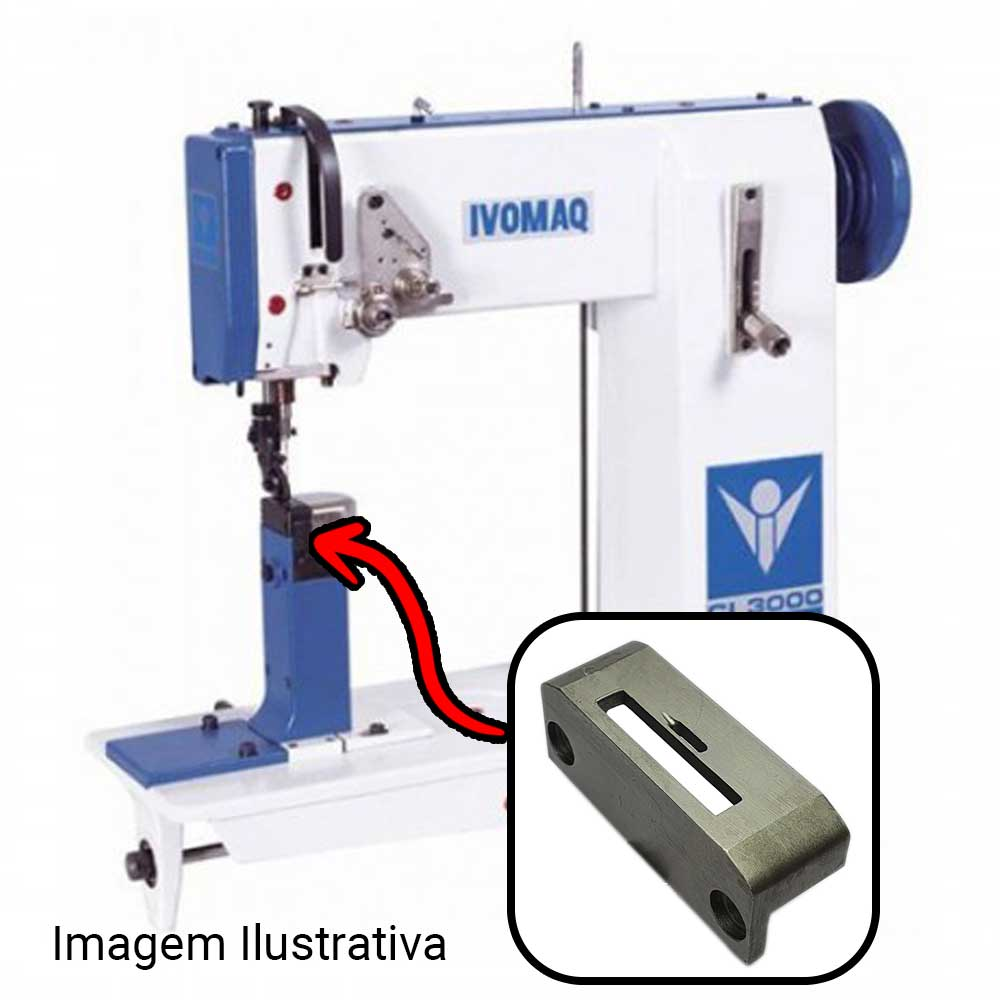 Chapa Para Máquina De Costura 1 Agulha Para Máquina IVOMAQ CI 2100 E CI 3000 Furo  - Pavvia Agulhas e Peças