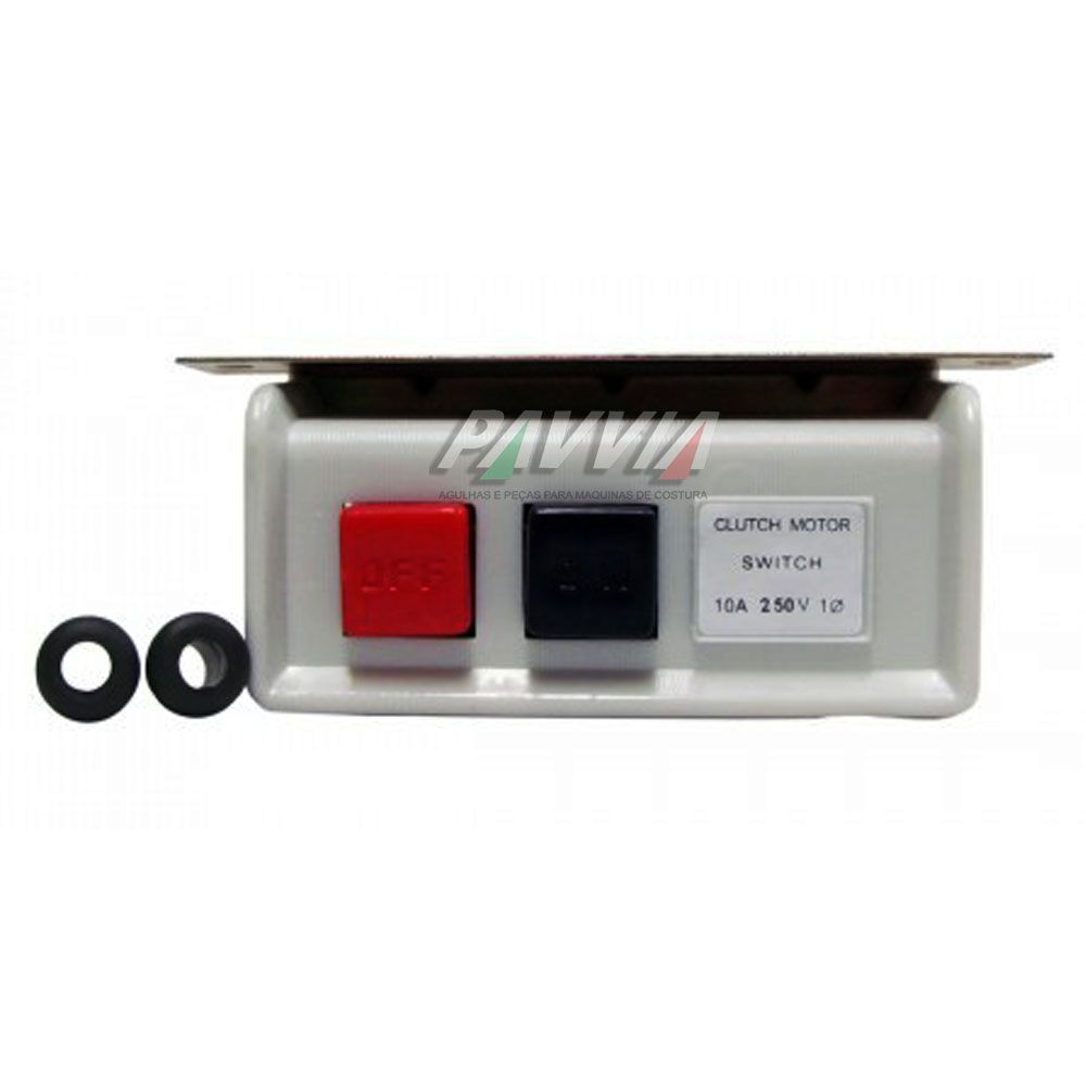 Chave liga desliga monofásica para motor de máquina de costura   - Pavvia Agulhas e Peças