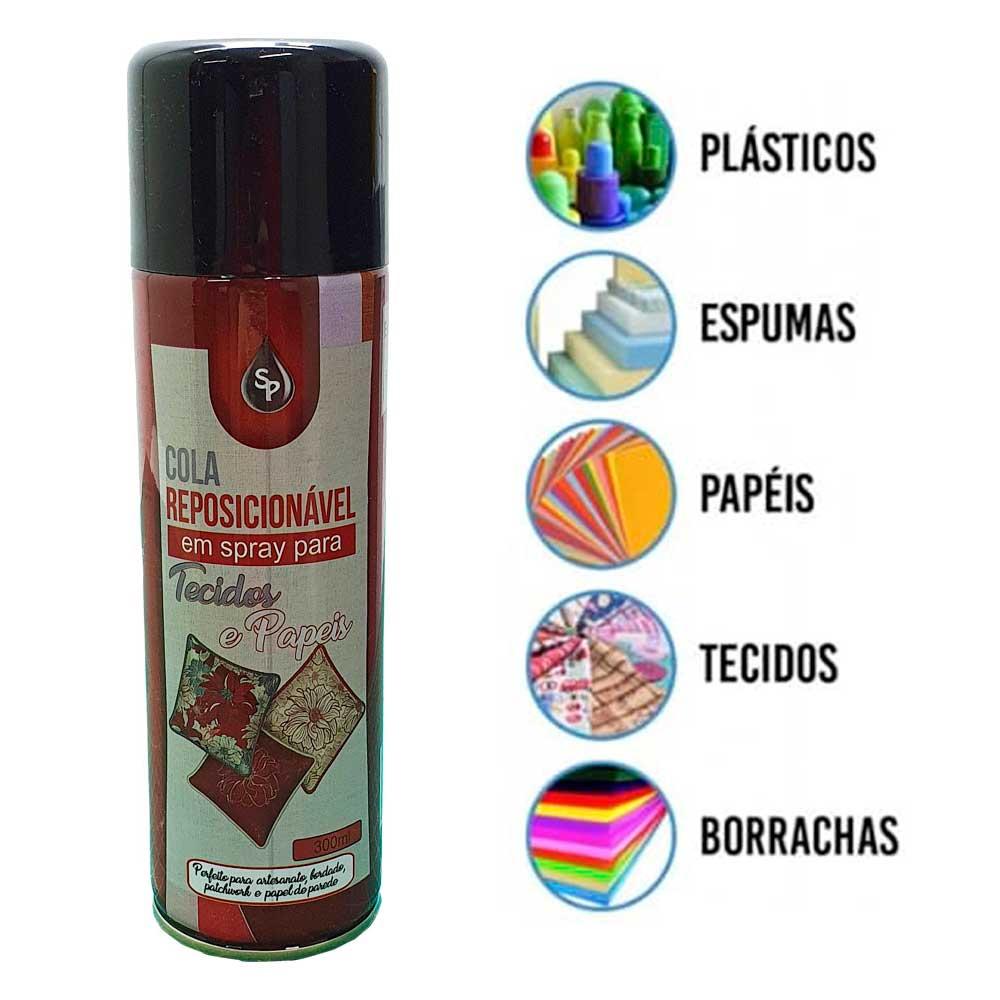 Cola Spray Reposicionável Para Tecidos, Bordado, Artesanato, Patchwork, Quiltar  - Pavvia Agulhas e Peças