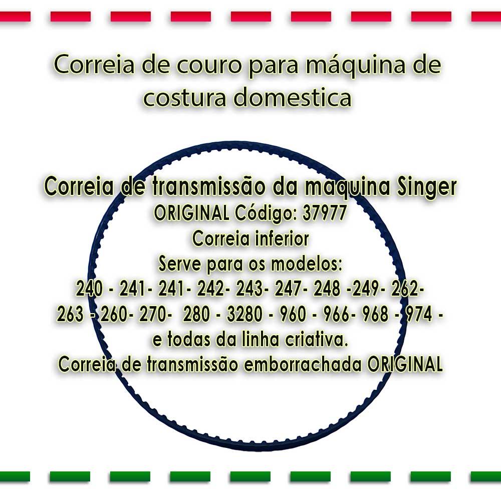 Correia De Transmissão Da Máquina Singer 37977  - Pavvia Agulhas e Peças