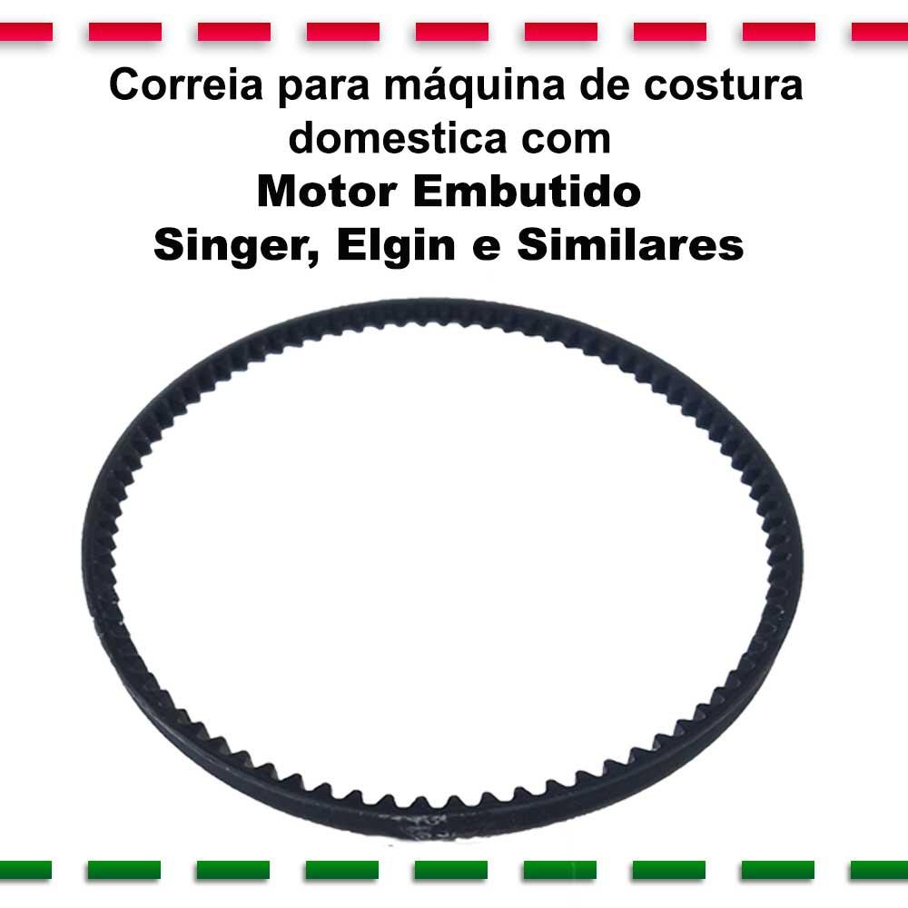 Correia Para Máquina Costura Domestica Motor Embutido Singer Elgin e Similares  - Pavvia Agulhas e Peças