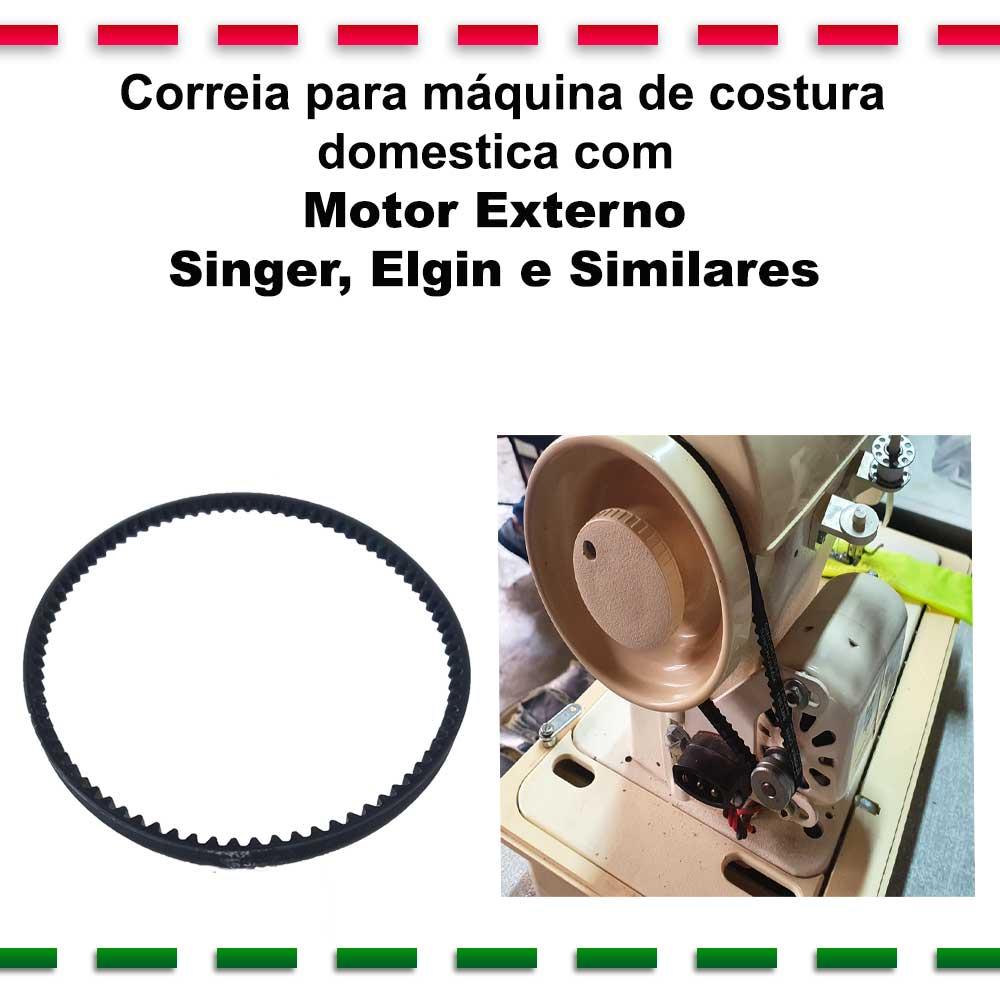 Correia Do Motor Máquina Costura Domestica Para Singer ou Elgin Ref. 196388  - Pavvia Agulhas e Peças