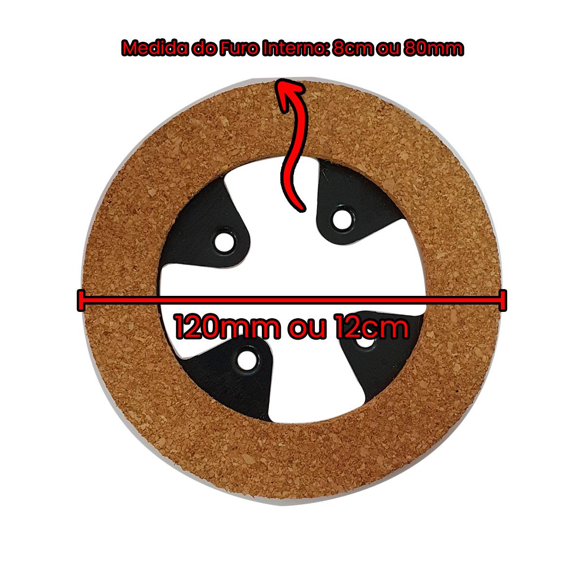 Disco de Cortiça 5mm 4 Furos na Lata e na Cortiça  - Pavvia Agulhas e Peças