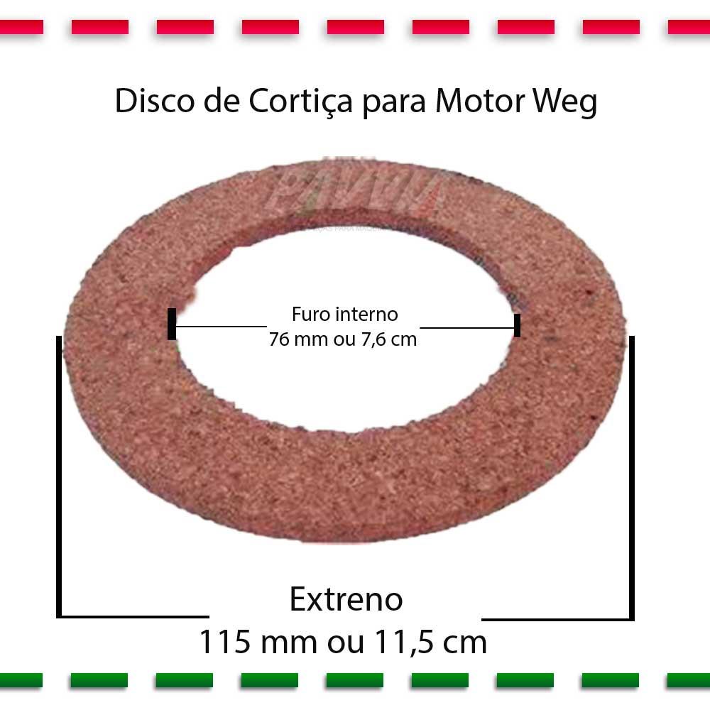 Disco De Cortiça Para Motor WEG De Máquina De Costura   - Pavvia Agulhas e Peças