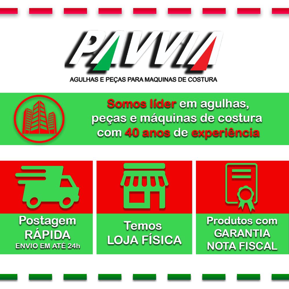 Kit 1 Correia de Couro Máquina Doméstica + Borracha + Agulhas 2045 Mista  - Pavvia Agulhas e Peças