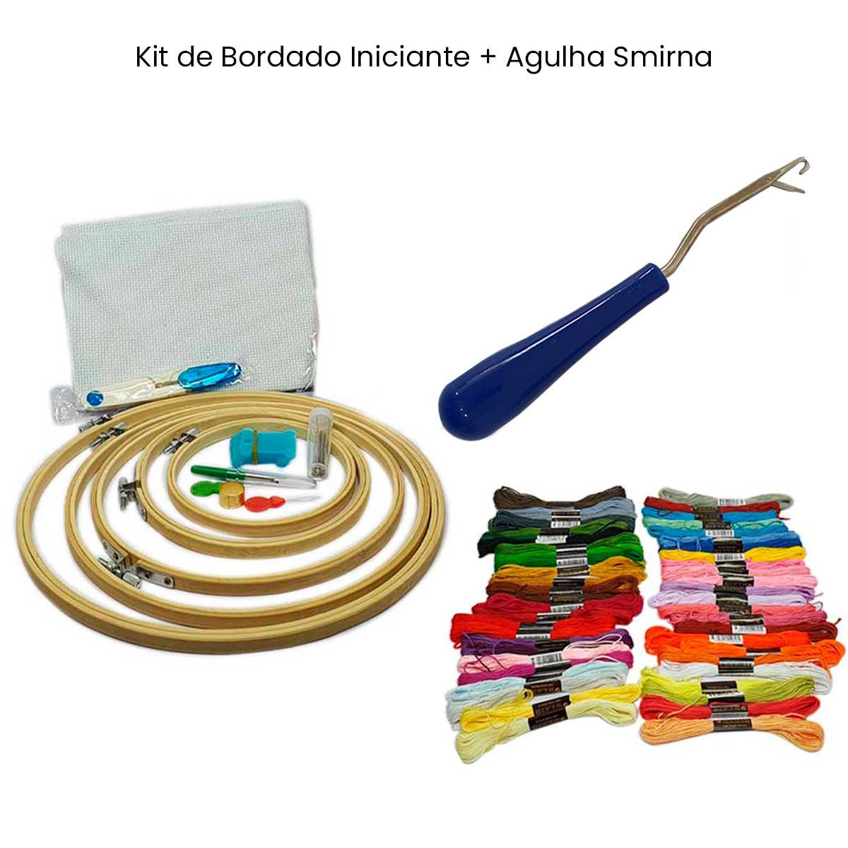 Kit Iniciante Bordado + Agulha Smirna  - Pavvia Agulhas e Peças