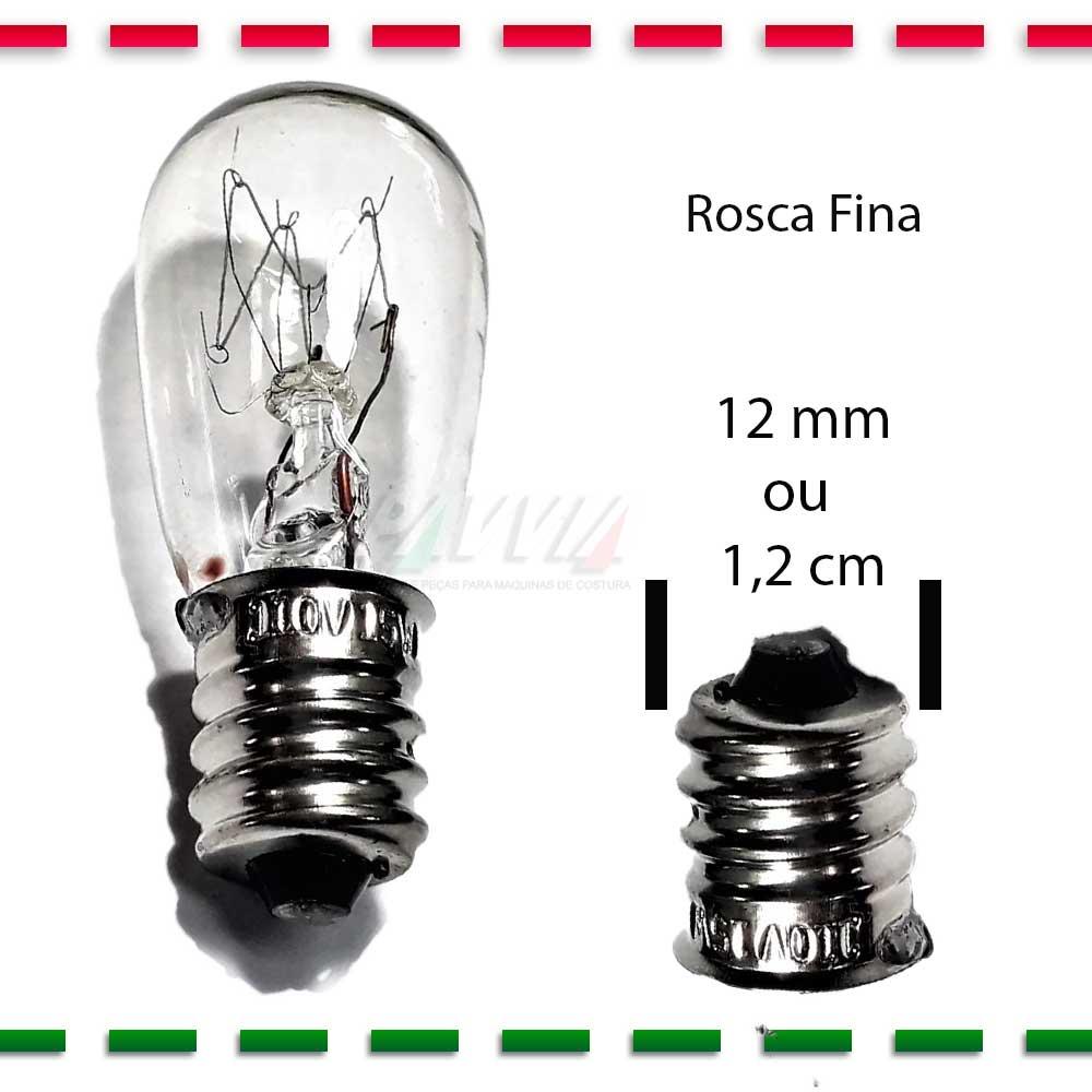 Lâmpada Para Màquina de Costura Rosca Fina E12  - Pavvia Agulhas e Peças