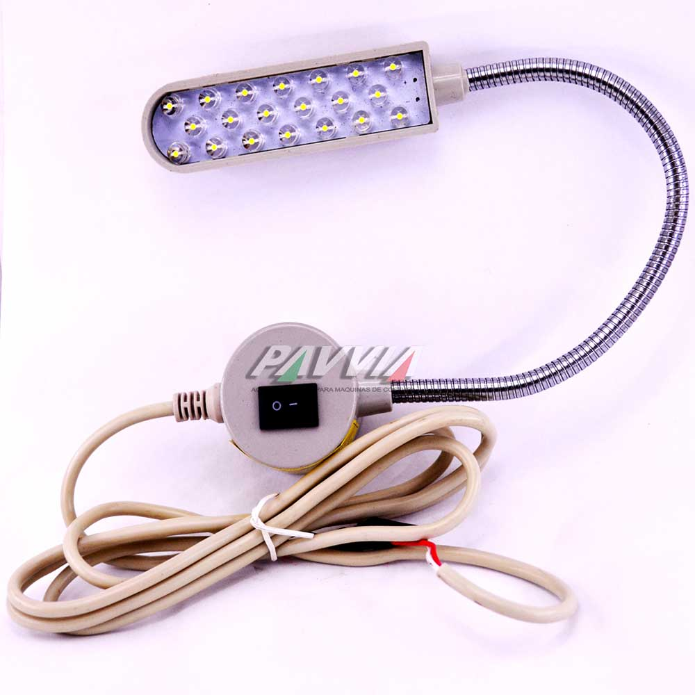 Luminária Led com Haste Flexível Para Máquina Costura  - Pavvia Agulhas e Peças