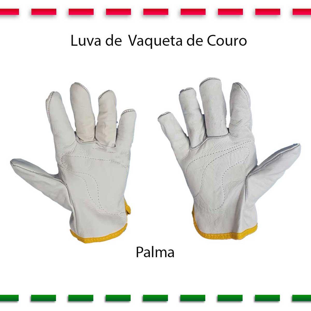 Luva De Vaqueta Cano Curto Kit com 2 Pares  - Pavvia Agulhas e Peças