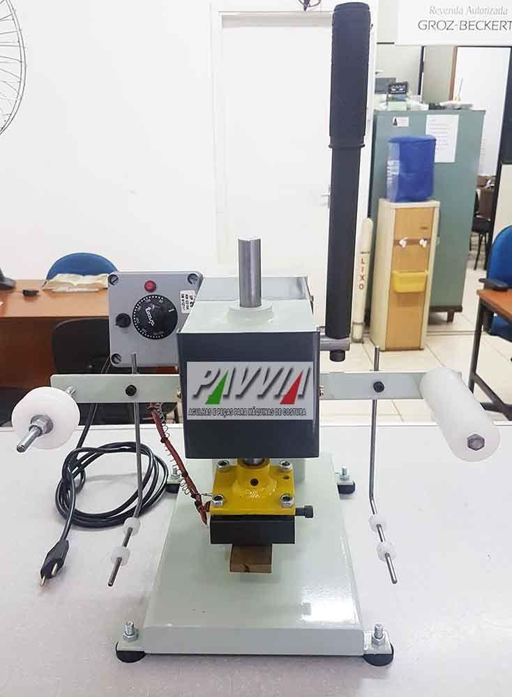 Carimbadeira Hot Stamping manual como fita e controlador de temperatura   - Pavvia Agulhas e Peças