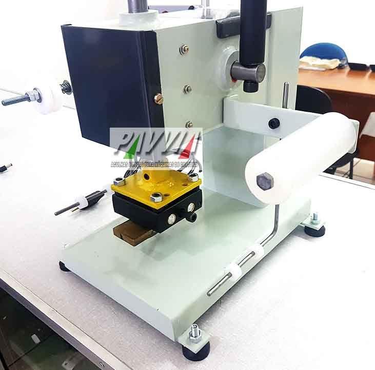 Carimbadeira Hot Stamping manual como fita e controlador de temperatura 220V