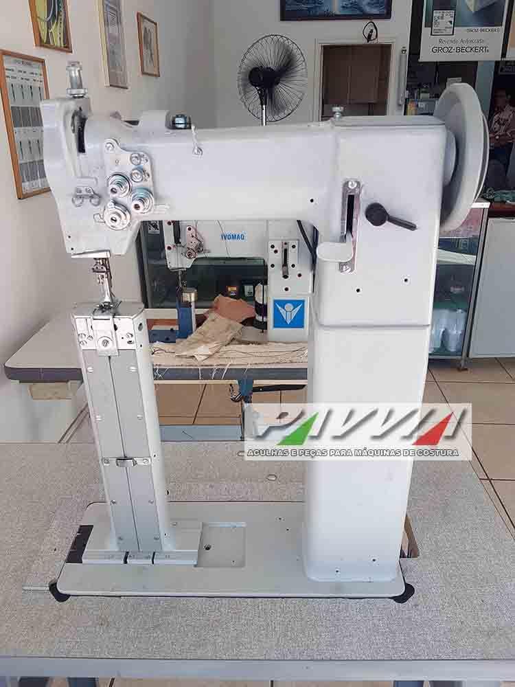 Máquina de coluna alta 2 agulhas transporte triplo (Girafa)