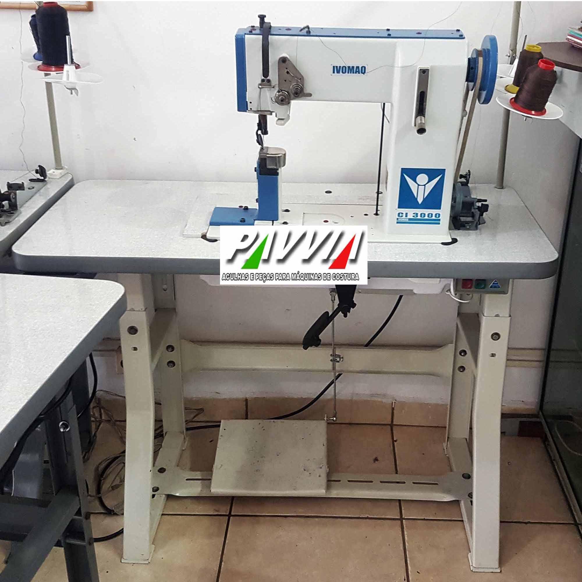 Máquina de costura de coluna IVOMAQ CI 3000  4DI 1 Agulha transporte duplo   - Pavvia Agulhas e Peças