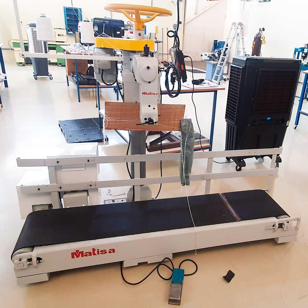 Maquina De Costura Ou Fechar Boca De Sacaria Com Esteira Matisa FE 200 / MF-1/A  - Pavvia Agulhas e Peças