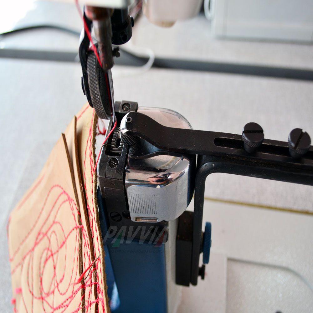 Máquina De Costura De Coluna IVOMAQ CI 3000 - 4DI Transporte Duplo Lançadeira Grande  Com Motor Eletrônico  - Pavvia Agulhas e Peças