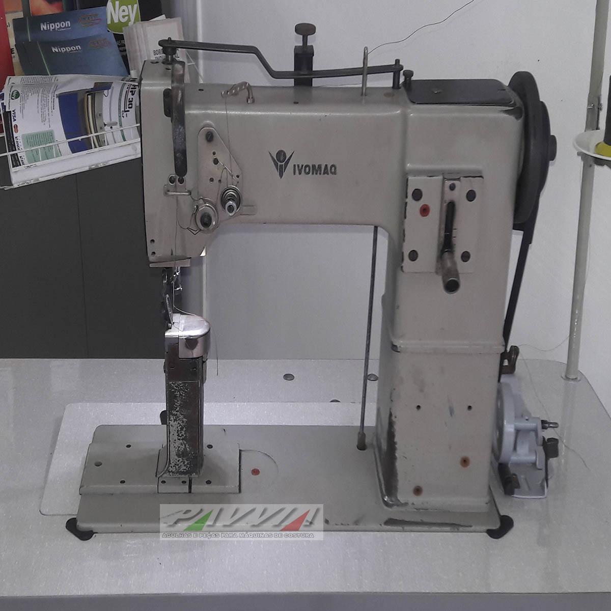 Máquina de costura de coluna IVOMAQ CI 3000 Transporte simples