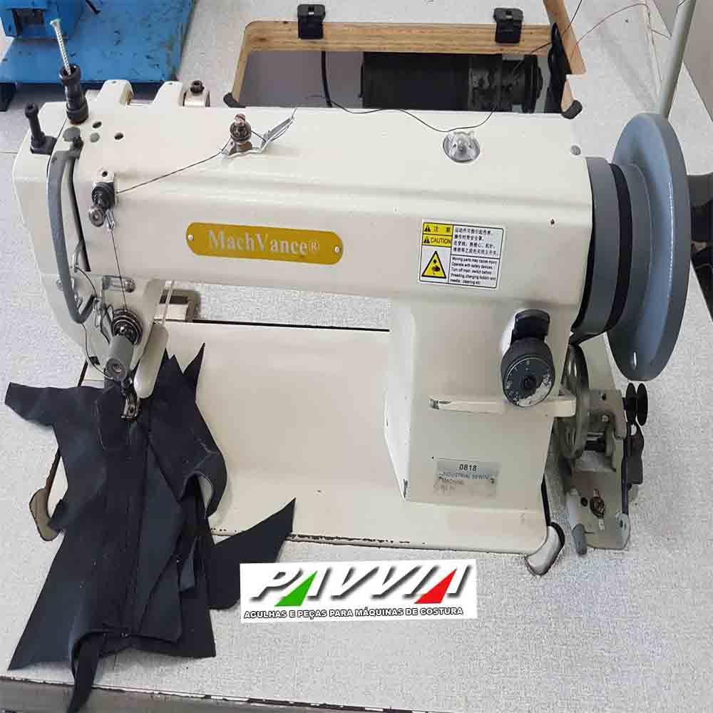 Máquina de costura reta transporte triplo 1 agulha costura pesada