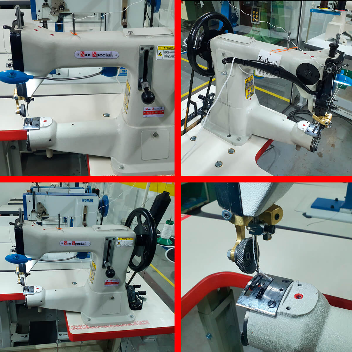 Máquina GA 5 Para Selaria Com Retrocesso e Motor Eletrônico Bivolt Sun Special SS5-1BH  - Pavvia Agulhas e Peças