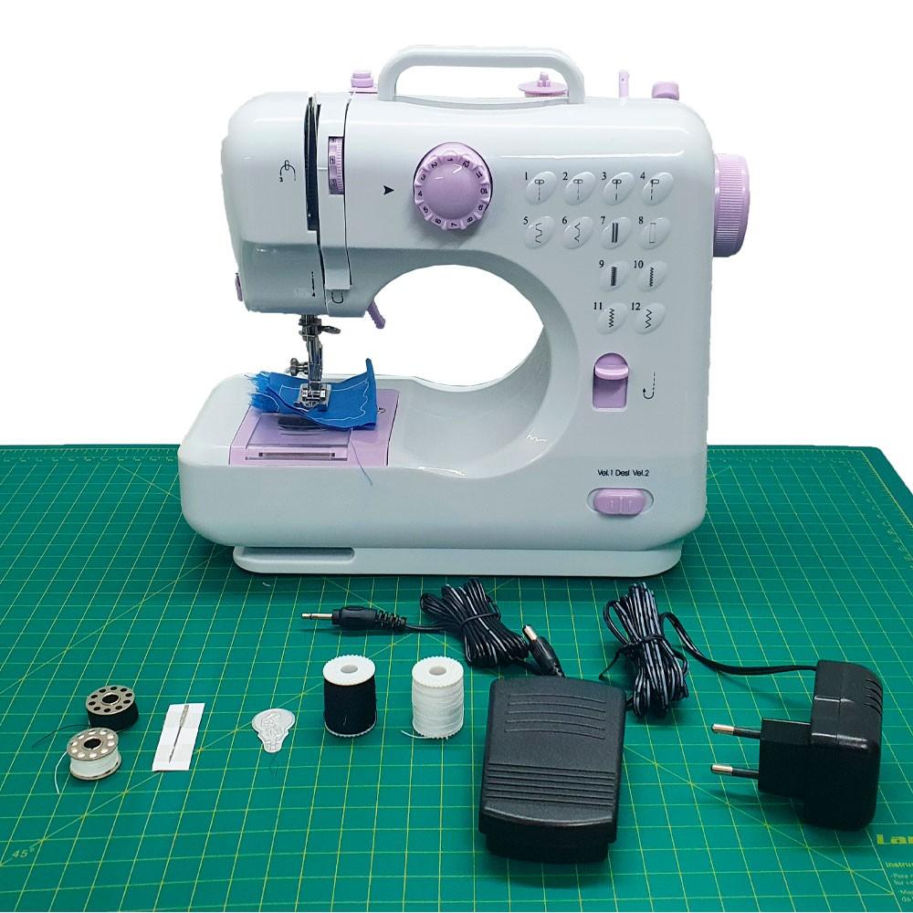 Mini Máquina De Costura Portátil Elétrica Bivolt LM 505A  - Pavvia Agulhas e Peças
