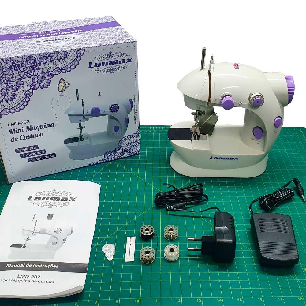 Mini Máquina De Costura Portátil Elétrica Bivolt Lm 202  - Pavvia Agulhas e Peças