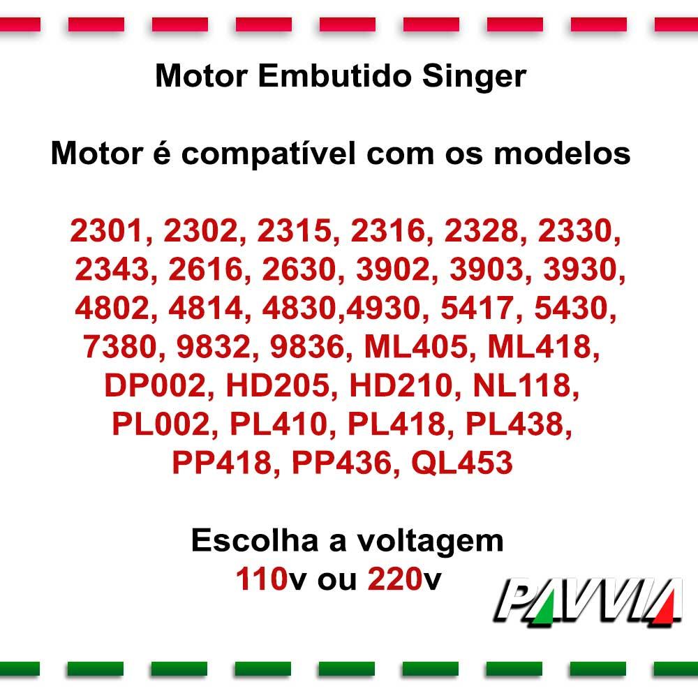 Motor Embutido Para Máquina De Costura Singer Fashion Ou Inspiration  - Pavvia Agulhas e Peças