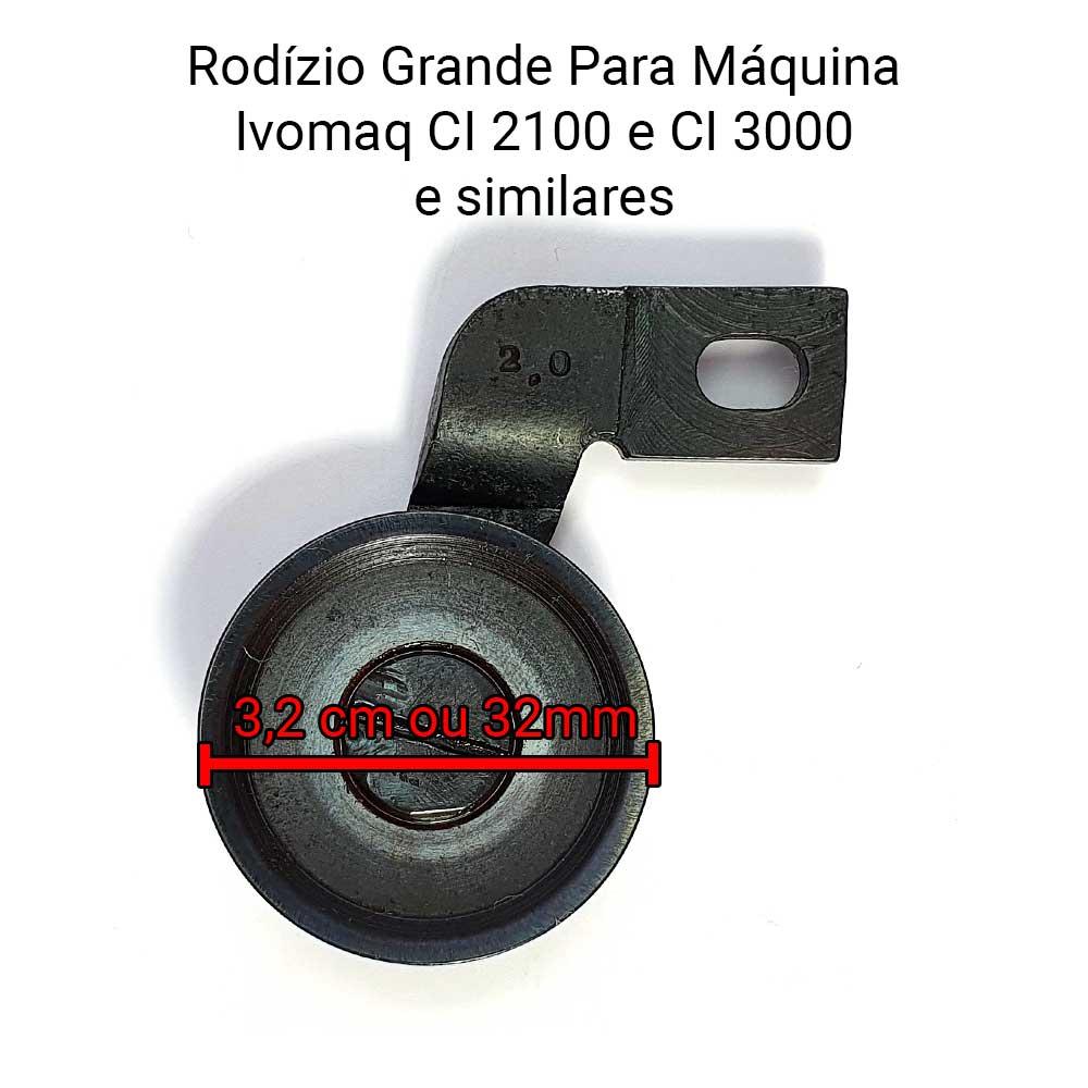 Rodizio Grande Para Máquina De Costura IVOMAQ CI 2100 CI 3000   - Pavvia Agulhas e Peças