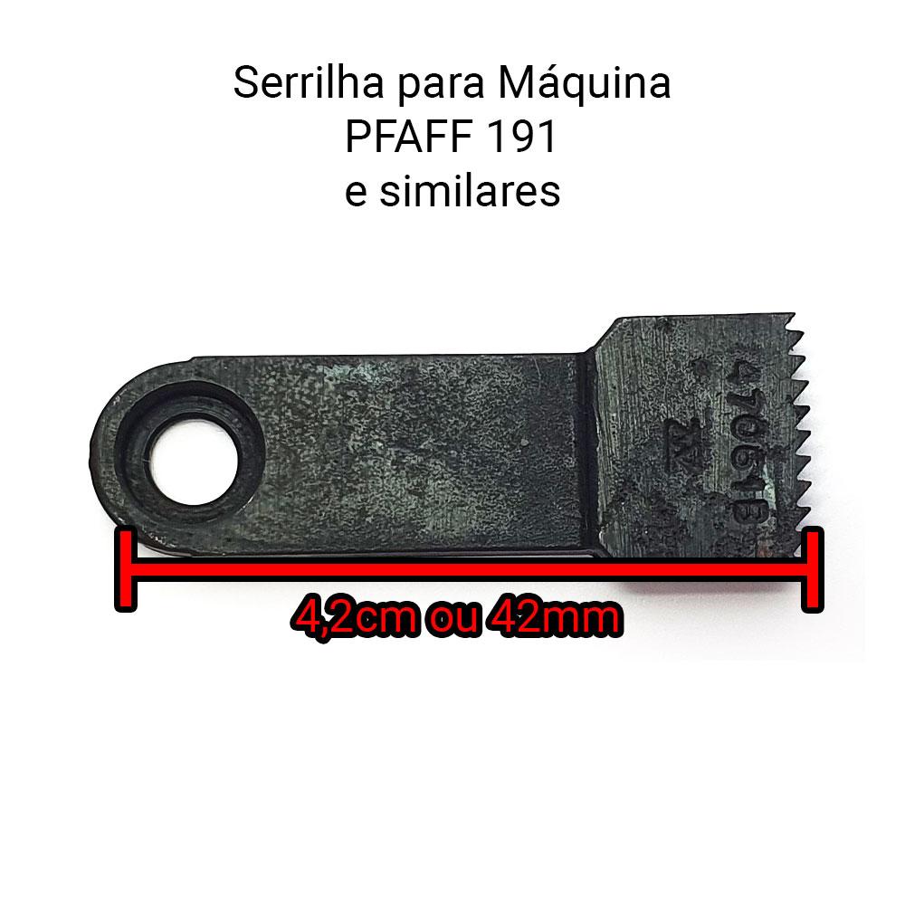 Serrilha Ou Dente Para Máquina De Costura 1 Agulha Para Máquina Pfaff 191 91-047061-04 C  - Pavvia Agulhas e Peças