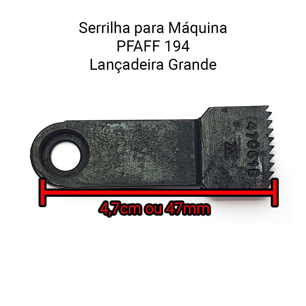 Serrilha Ou Dente Para Máquina De Costura 1 Agulha Para Máquina Pfaff 194 Lançadeira Grande  - Pavvia Agulhas e Peças