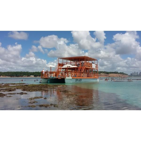 Passeio Piscinas do Seixas de Catamarã com Transfer - João Pessoa/PB