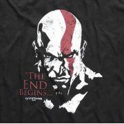Camiseta God of War Rosto do Kratos