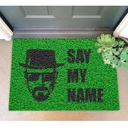 Capacho Breaking Bad - Say my name - verde