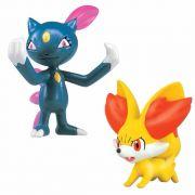 Mini Figuras Pokemon Xy Batalha Fennekin Vs Sneasel