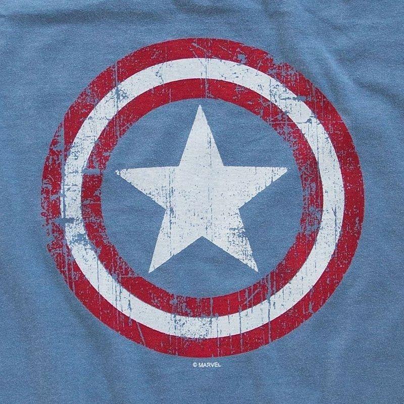 Camiseta Capitão América Escudo Vintage