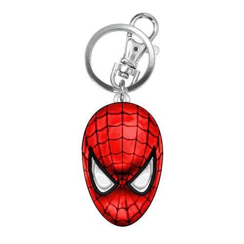 Chaveiro em Metal Spider Man Rosto Colorido