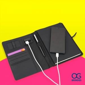 Caderno com Power Bank Personalizado  - BG046