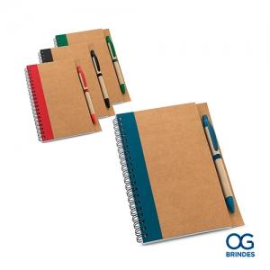 Caderno Papel Kraft Personalizado